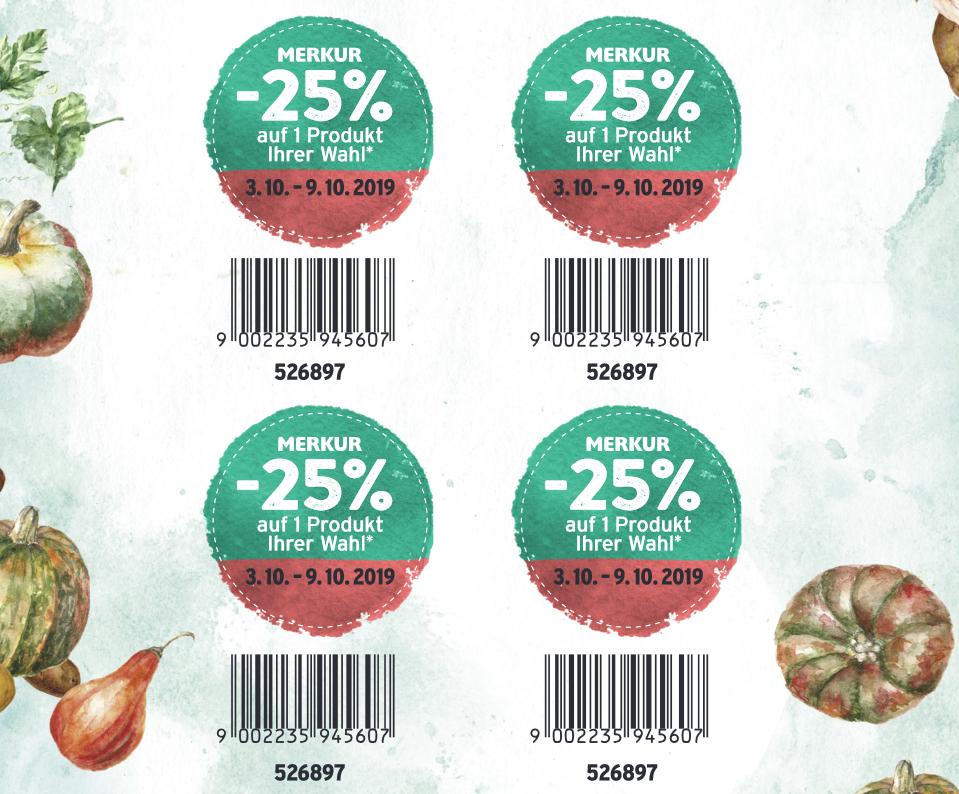 Merkur Rabattpickerl 25% (auch als Download erhältlich)