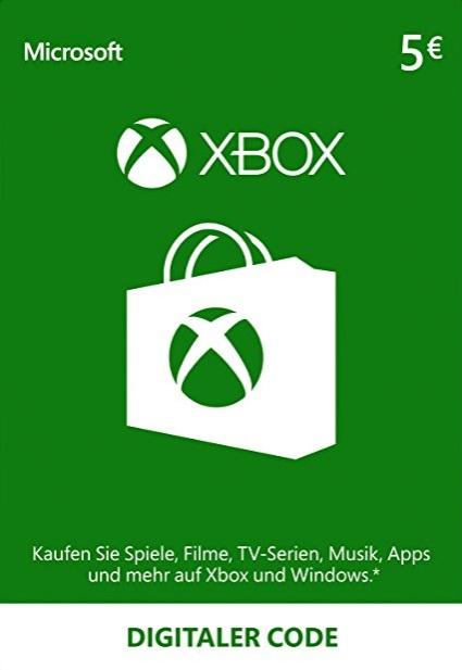 [Microsoft] 5€ Guthabenkarte für 3,65€ oder 50€ für 36,65€