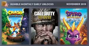 Humble Monthly: Call of Duty WWII, Crash Bandicoot™ N. Sane Trilogy, Spyro™ Reignited Trilogy and more to come