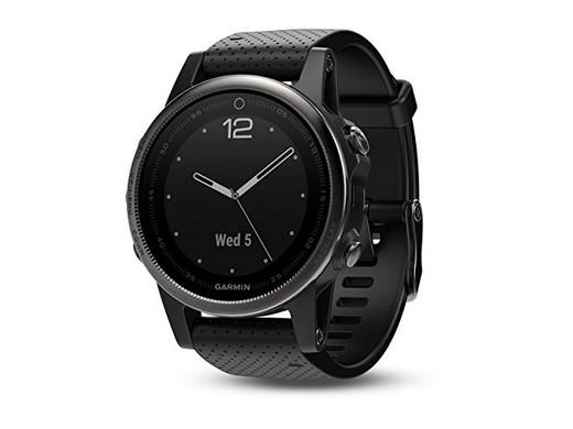 Garmin Fenix 5S Saphir Smartwatch schwarz