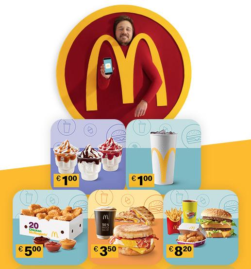 McDonald's App - 8 neue Gutscheine - bis 20.10.2019