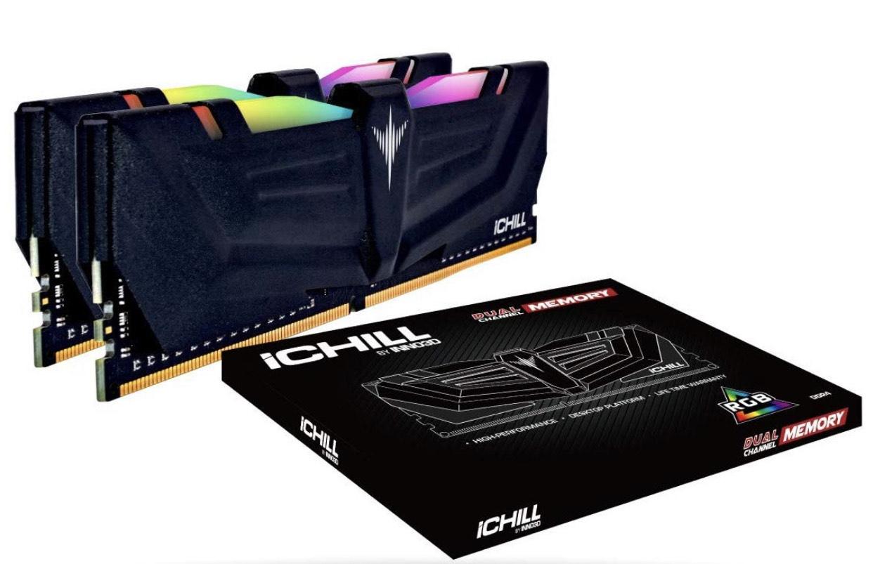 INNO3D iChiLL RGB DIMM Kit 16GB, DDR4-3000, CL16-18-18-36