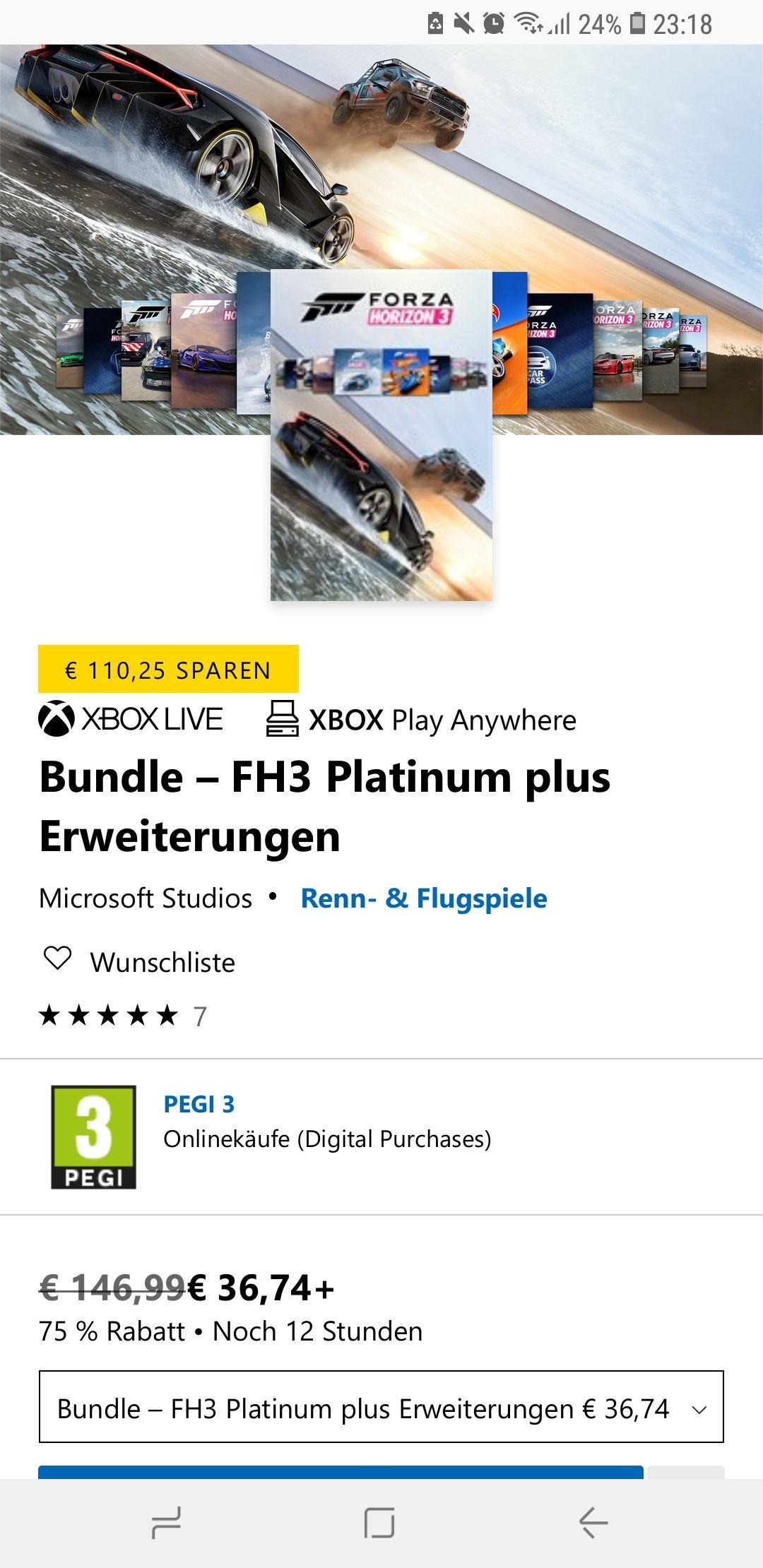 Forza Horizon 3 Platinum + Erweiterungen Bundle