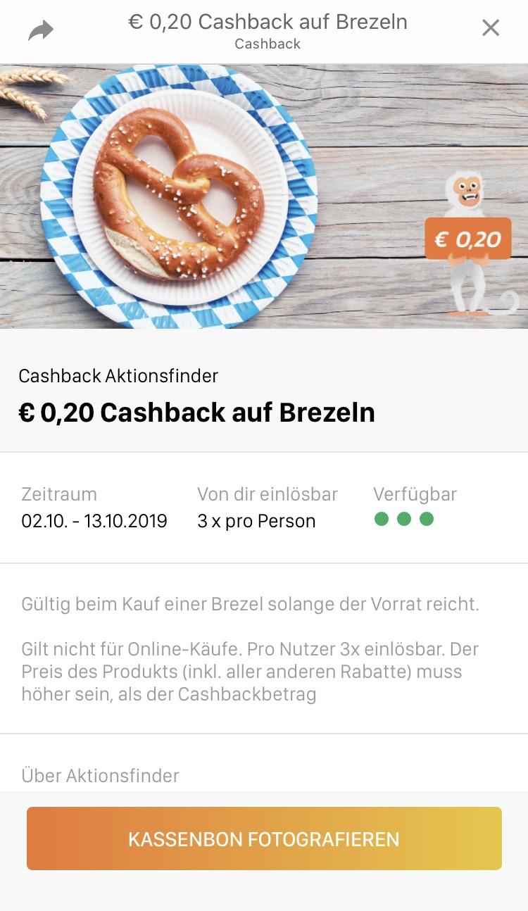 Laugenbrezel mit Hofer Preiskick + Aktionsfinder Cashback
