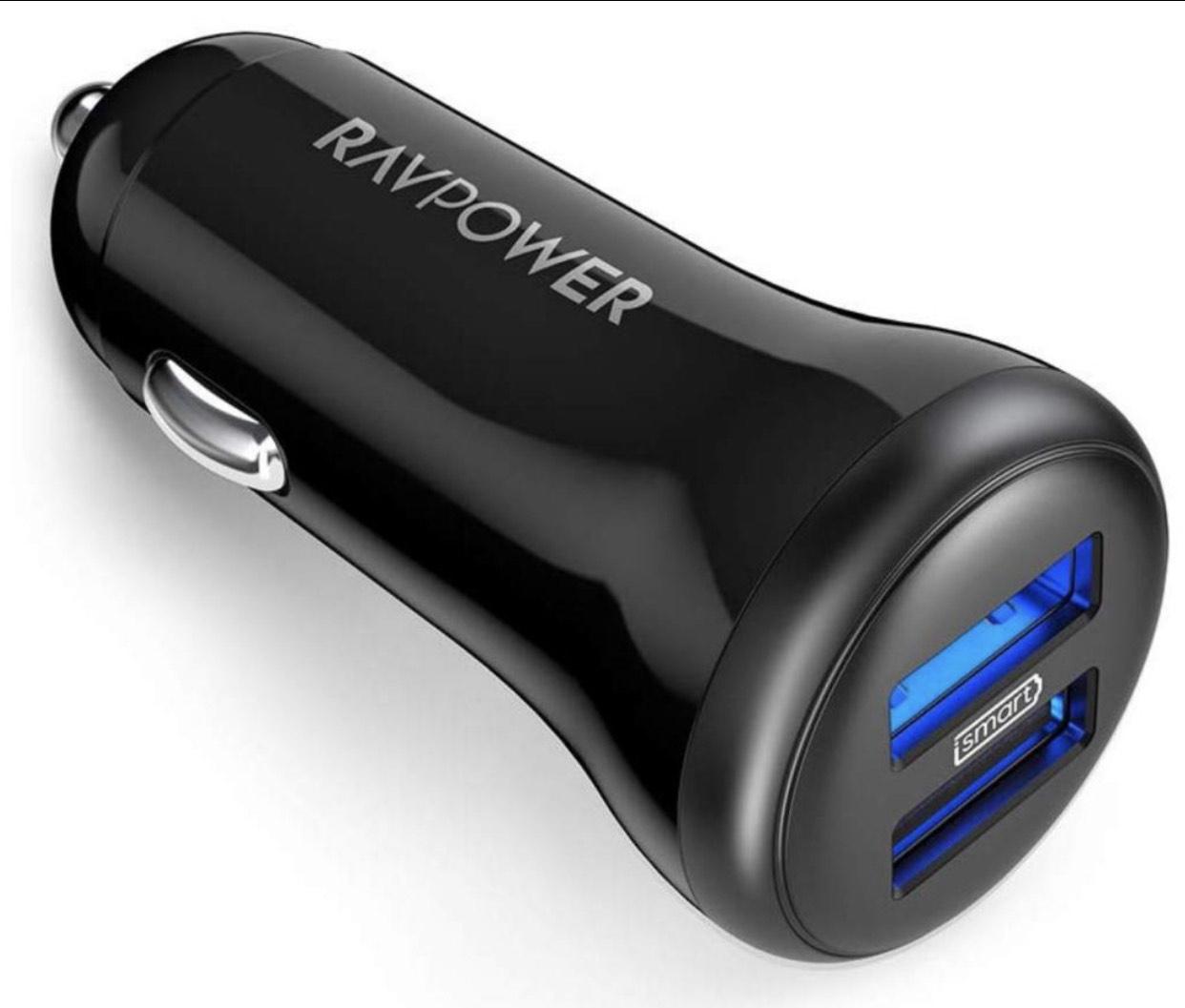 RAVPower 2-Port Auto Ladegerät 24W 5V/4.8A