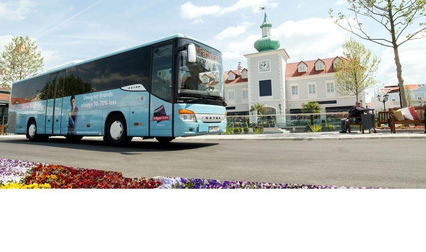 Parndorf Shuttlebus von Wien - Designer Outlet Center - Wien - bis 26.10.2019