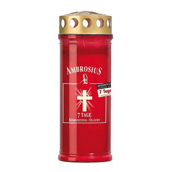 Ambrosius 7 Tage Kompositions-Öllicht Rot mit -25 % Sticker