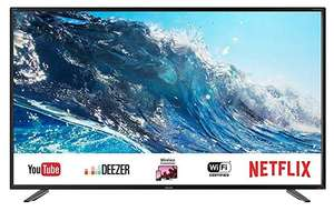 SHARP 55BJ2E 55 Zoll 4K Ultra HD Smart TV (HDR, Harman/Kardon Soundsystem, Triple Tuner)