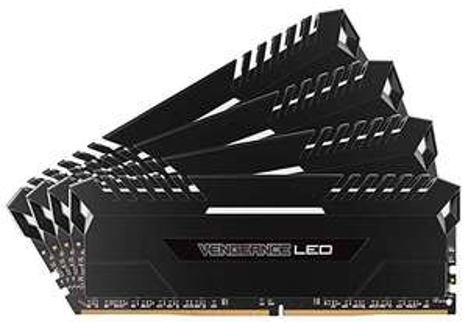 Corsair Vengeance LED weiß 64GB, DDR4-3000, CL16-20-20-38