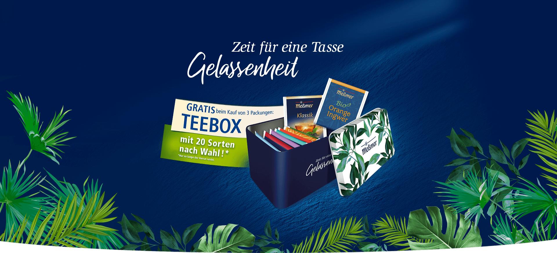 Meßmer Teebox bei Kauf von 3 Packungen
