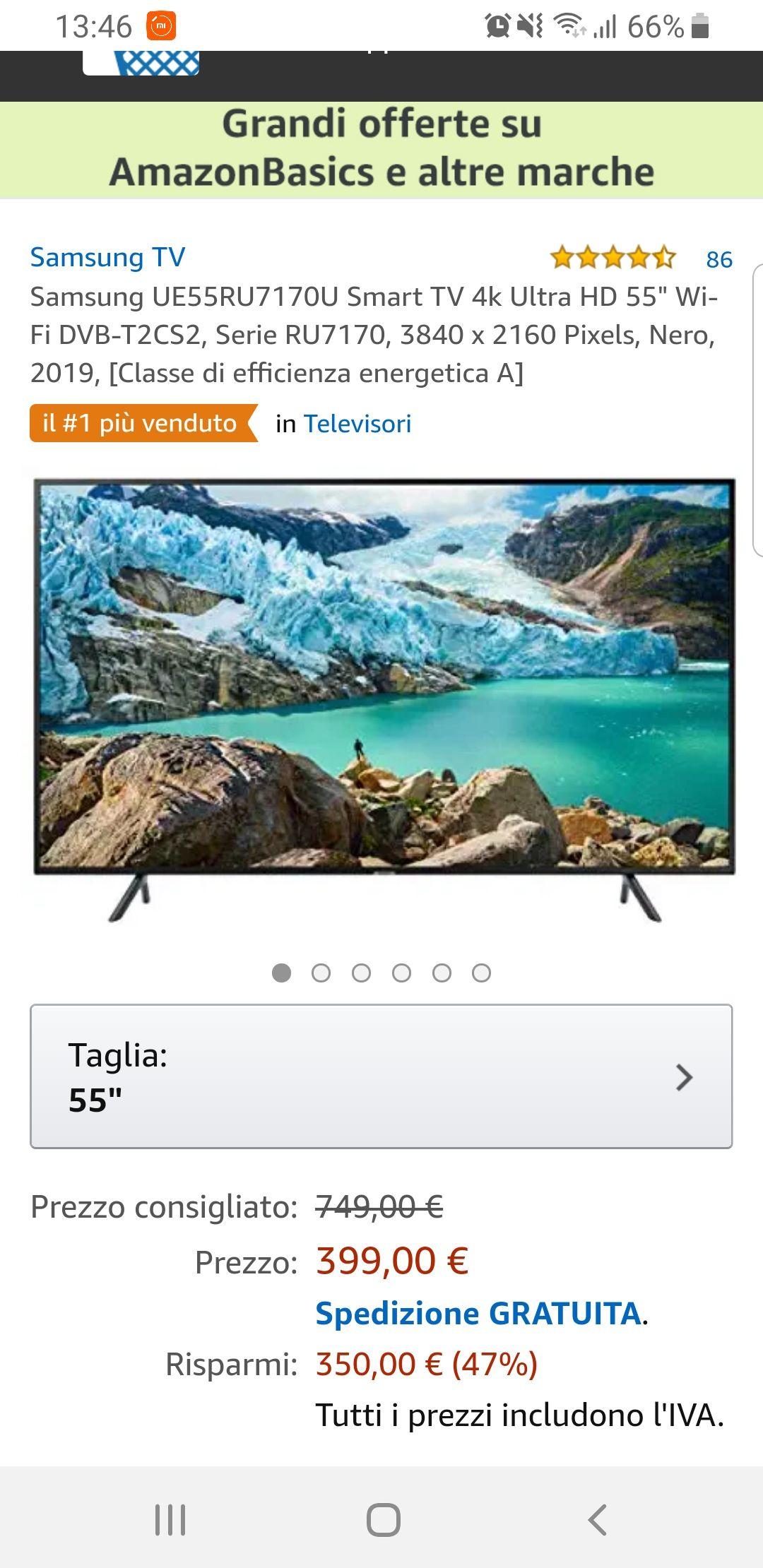 Samsung Smart Tv 4k Ue55ru7170u