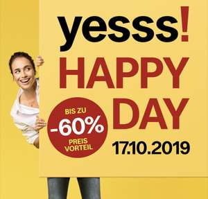 yesss! HAPPY DAY am 17.10. ab 10:00 Uhr