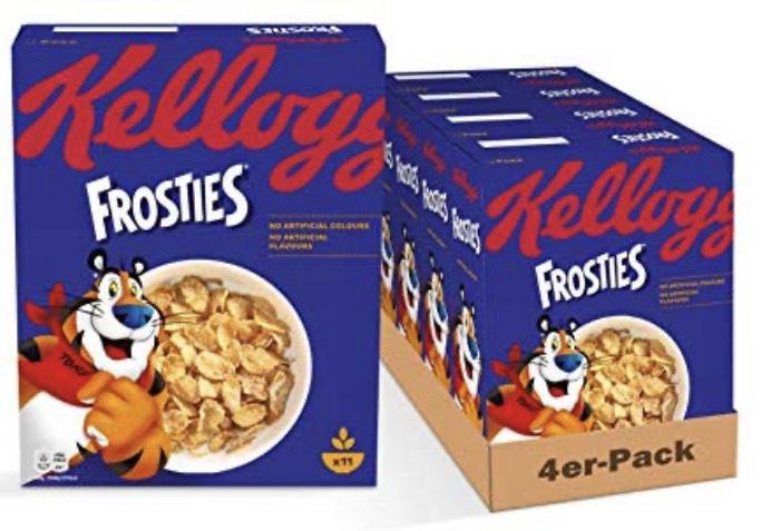 4 Pkg. Kellogg Frosties a 330 Gr. um nur € 6,60