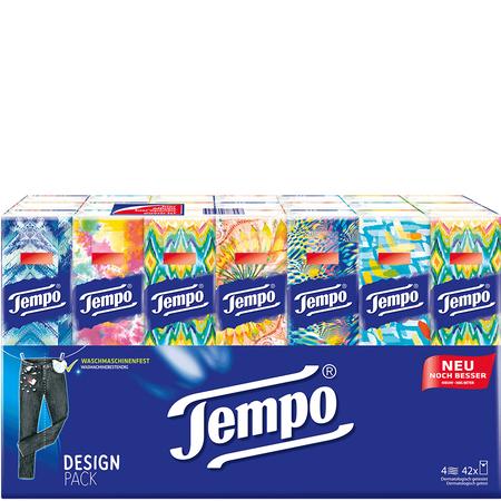 Tempo Taschentücher 42 x 10 Stück (0,0075 € je Taschentuch) mit -25 % Code