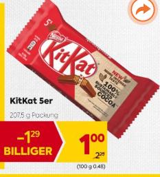 KitKat 5er 3,6€/Kilo mit -25% Sticker - Ist er das, der ALLZEITBESTPREIS?!