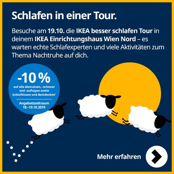 [Ikea] -10%  auf Schlafkomfort Produkte bei IKEA besser schlafen Tour
