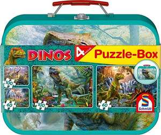 Schmidt Spiele Puzzle-Box - im Metallkoffer Dinos (56495)