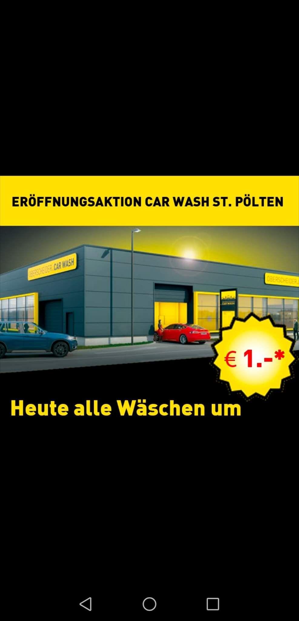 [St. Pölten] Alle Autowäschen um 1 €!!