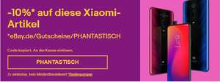 -10% auf Xiaomi-Artikel