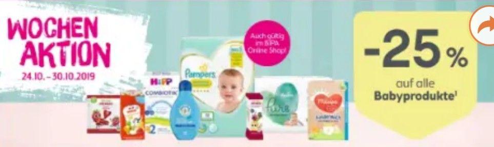 BIPA -25% auf Babyprodukte