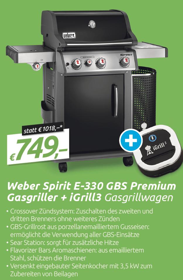 Weber Spirit E-330 GBS Premium Gasgriller + iGrill3 - 0815.at