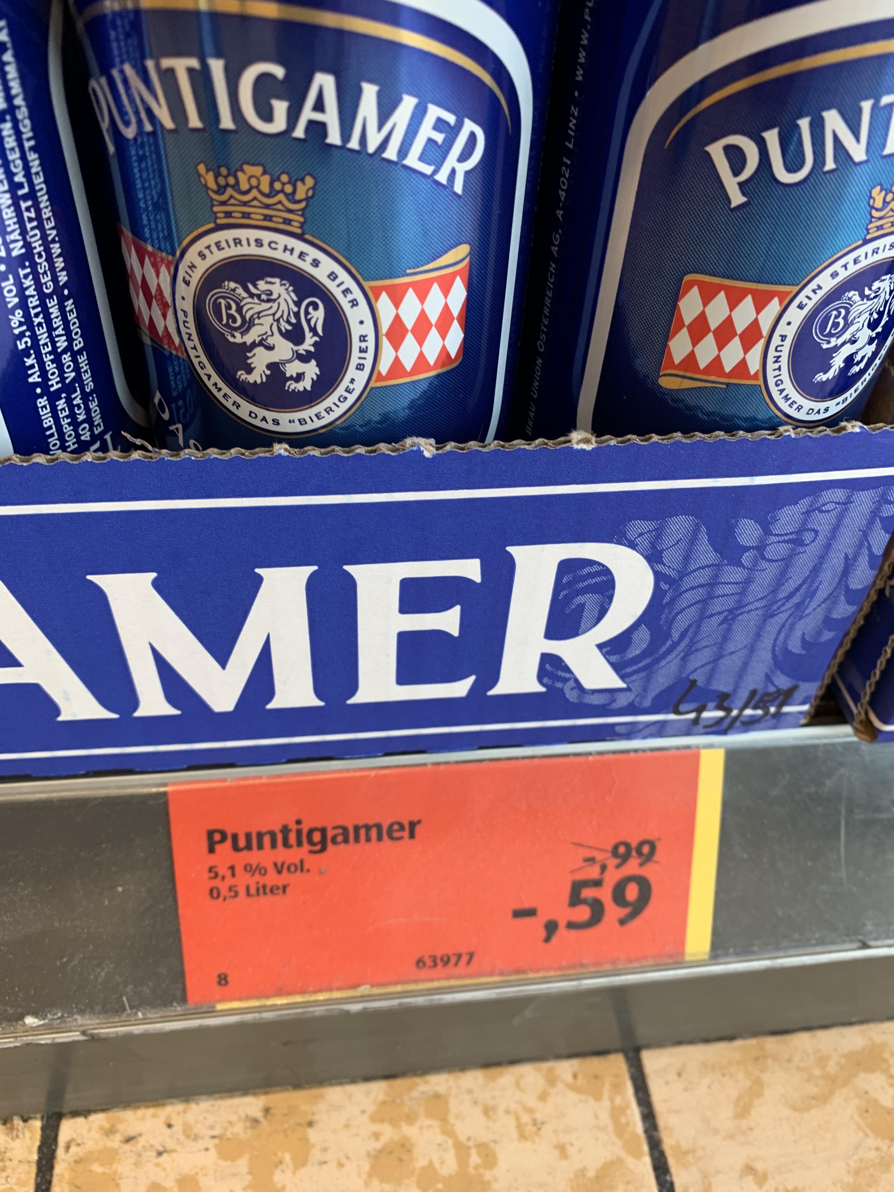 [Hofer] Puntigamer Dose um nur 0,59€