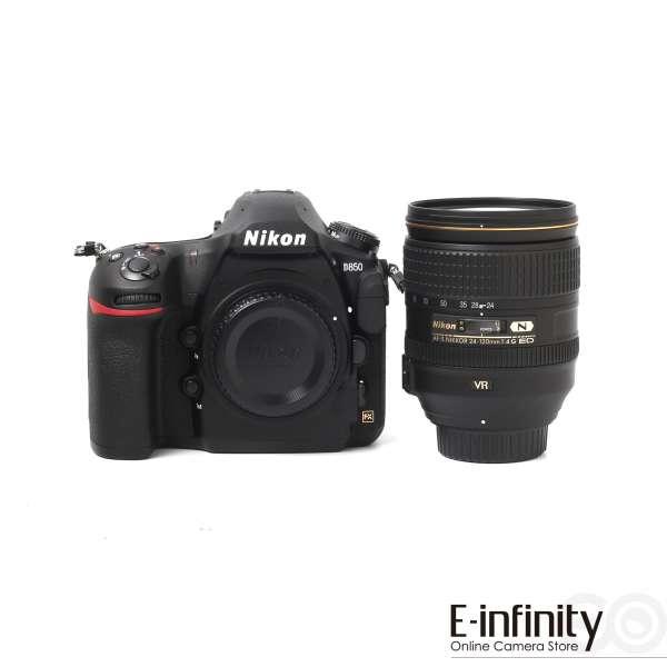 Nikon D850 schwarz mit Objektiv AF-S VR 24-120mm und viele andere Artikel