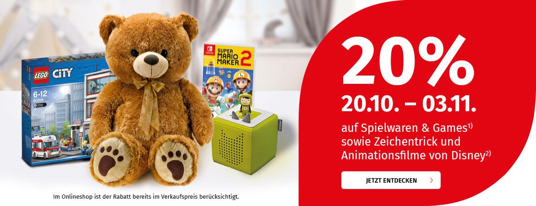Müller Deutschland 20 Prozent auf alle Spielwaren