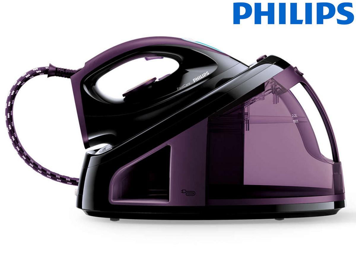 Philips GC7715/80 Dampfbügelstation (2400W, 5.5bar, 120g/min (250g/min), 2.2l, Antikalkfunktion)