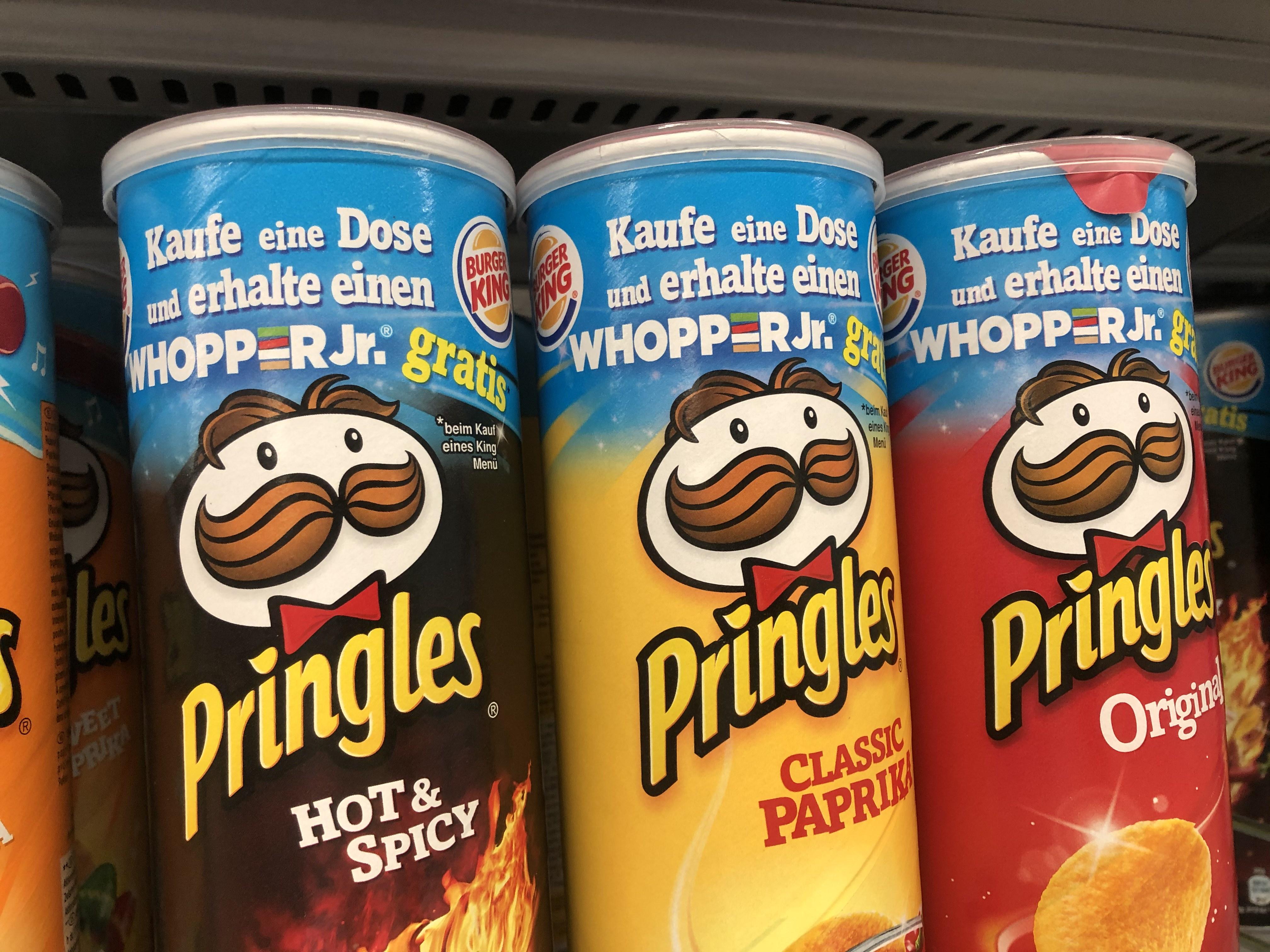 Pringles: GRATIS Whopper zu jedem KING Menü