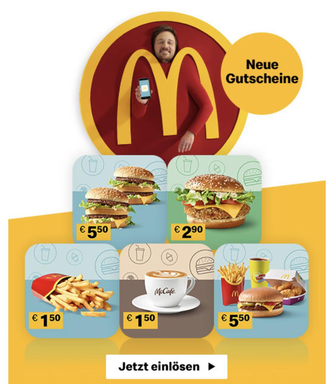 McDonald's App Gutscheine