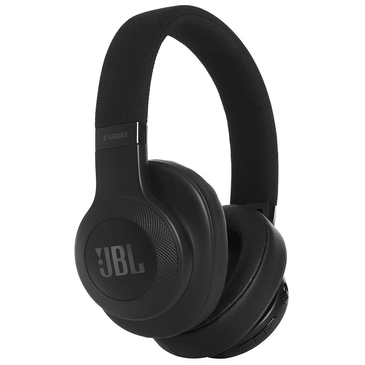 JBL E55BT Over Ear Bluetooth Kopfhörer in Schwarz (Wireless Headphones mit integriertem Headset – Musikgenuss für bis zu 20 Stunden)