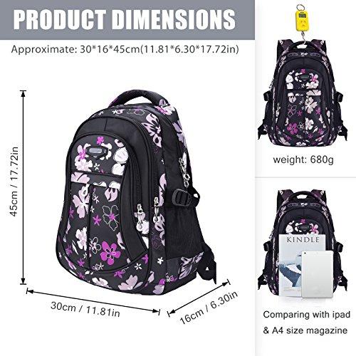 Schulrucksack für Mädchen in Schwarz