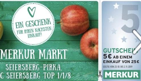 SC Seiersberg GS-Heft (Merkur: € 5,— ab 25,—, 2 x gratis Sekt, usw.)