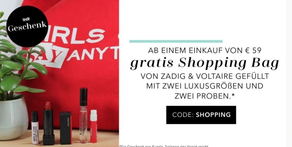 Gratis Shopping Bag ab 59€
