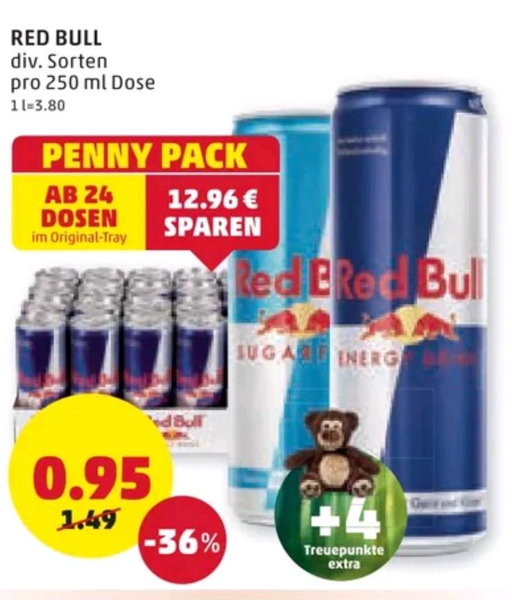 [Penny] Red Bull div. Sorten ab 24 Dosen € 0,95
