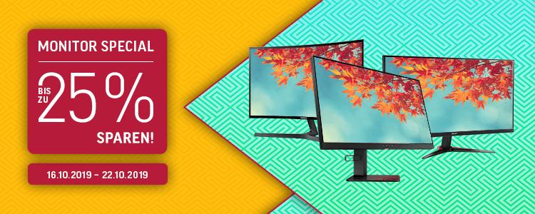 20% Rabatt auf ausgewählte Acer, HP und Samsung Monitore + Special Aktionen (inkl. einiger Preisbeispiele)