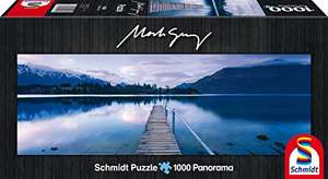 Schmidt Spiele 59291 - Mark Gray Panoramapuzzle (Lake Wakatipu, New Zealand, 1000 Teile)