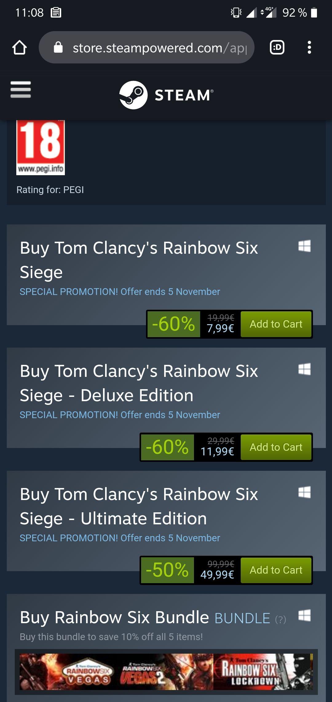Tom Clancy's Rainbow Six Siege [PC] -60%, -50%!