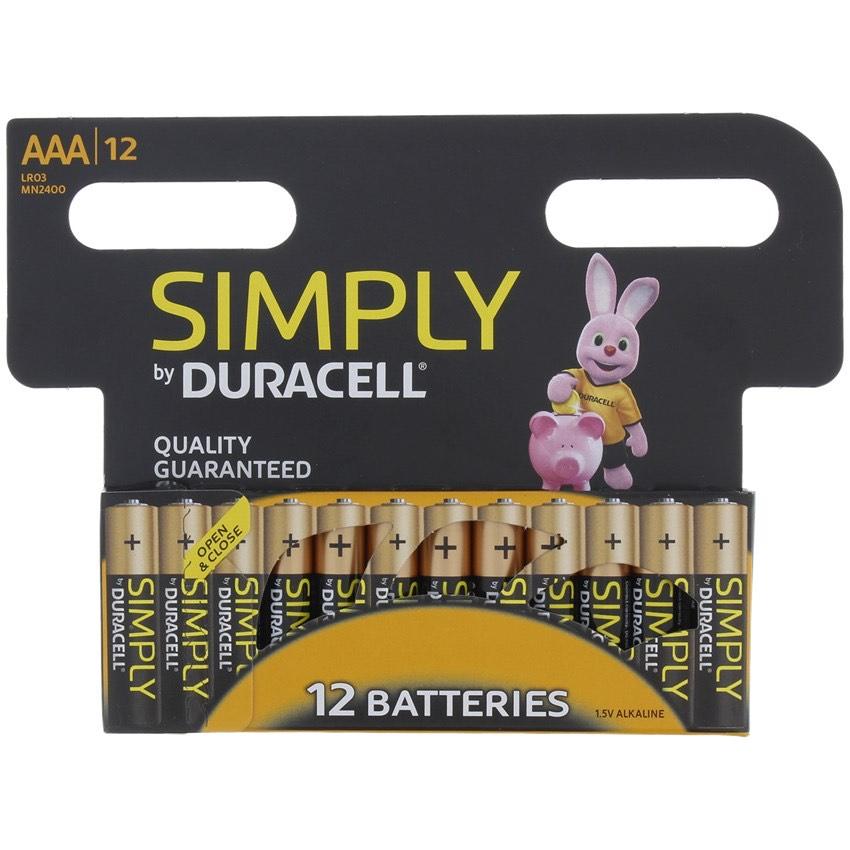 Duracell Batterien Simply AA oder AAA 12er Pack