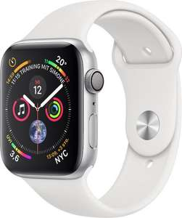 Apple Watch Series 4 (Alu, 44mm, weiß)