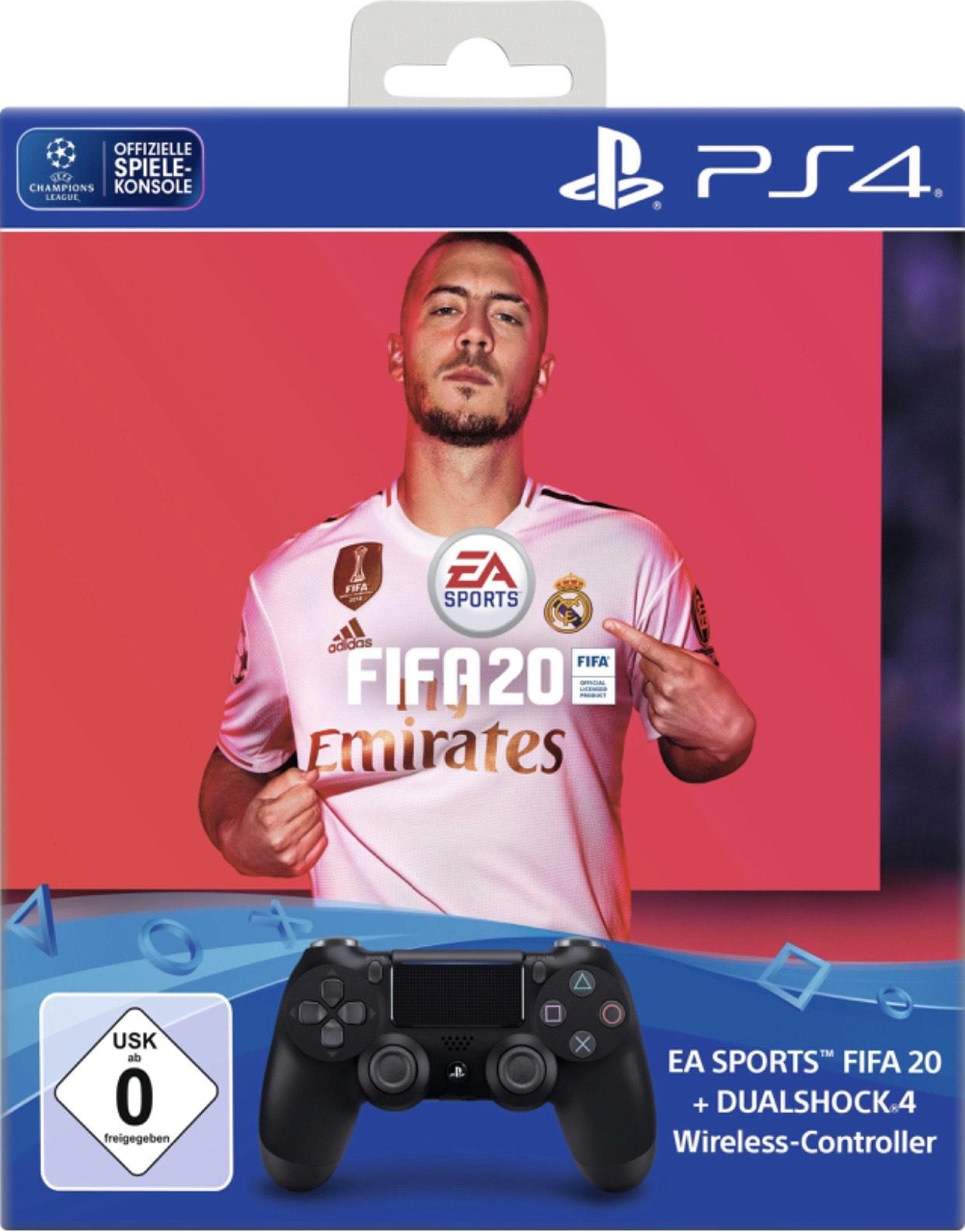 FIFA 20 + Sony DualShock 4 Controller Bundle