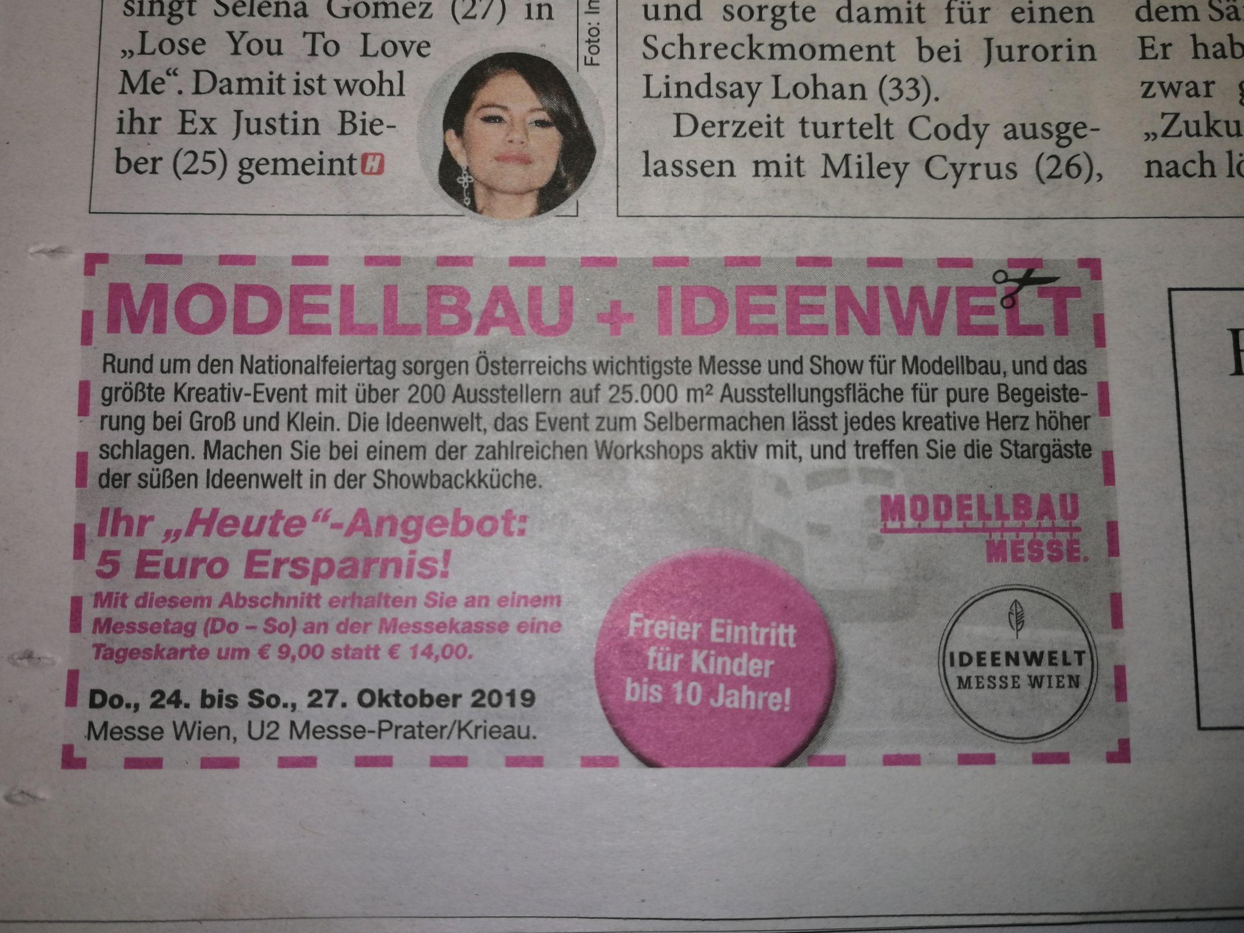 Modellbau + Ideenwelt (in der HEUTE Zeitung vom 24.10.)