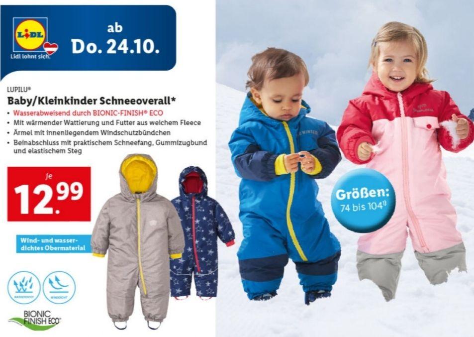 Baby/Kleinkinder Schneeoverall um € 12,99 (Gr. 74-104) bei Lidl