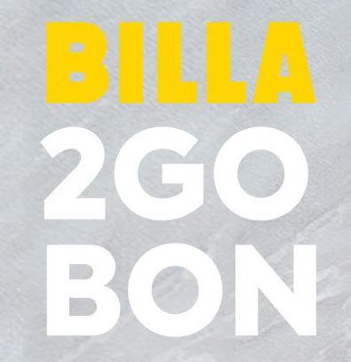 Billa 2 go Bons bis 20.11.2019