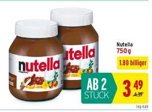 750g ab 2 Stk Nutella bei Merkur (Aktion inkl. Rabattsticker)