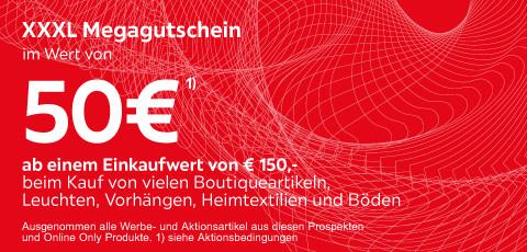 XXXLutz Gutschein im Wert von 50€ ab 150€ Einkauf