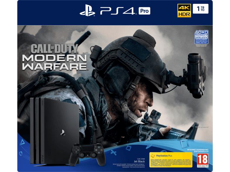 PlayStation 4 Pro 1TB schwarz inkl. Call of Duty Modern Warfare