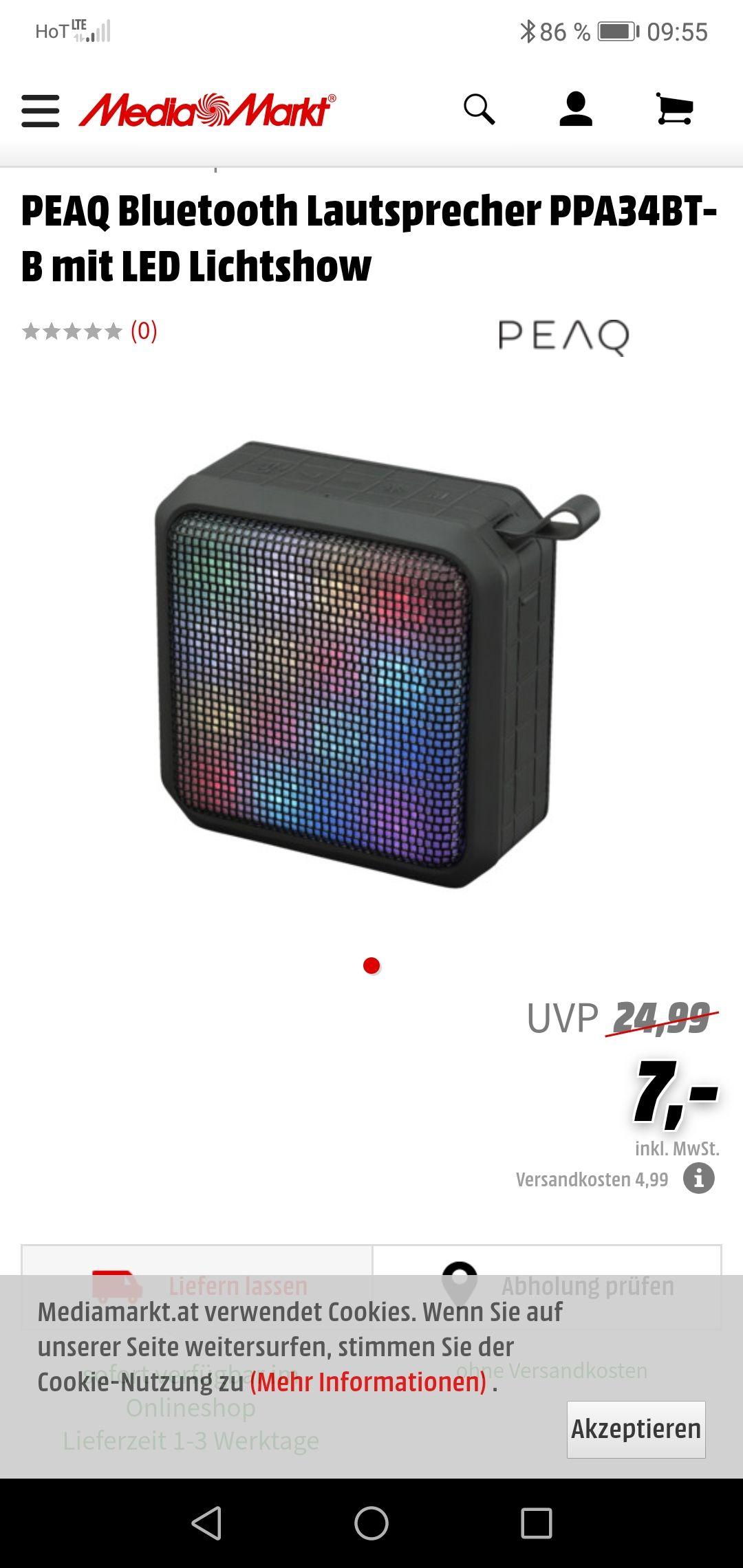 Media Markt Bluetooth Lautsprecher mit lichtshow