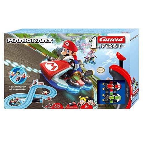 Carrera FIRST Nintendo Mario Kart 2,4 Meter Autorennbahn Set ab 3 Jahren mit Mario & Yoshi